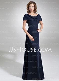Mother of the Bride Dresses - $138.99 - A-Line/Princess Cowl Neck Floor-Length Chiffon Tulle Mother of the Bride Dress With Ruffle Beading Sequins (008006061) http://jjshouse.com/A-Line-Princess-Cowl-Neck-Floor-Length-Chiffon-Tulle-Mother-Of-The-Bride-Dress-With-Ruffle-Beading-Sequins-008006061-g6061