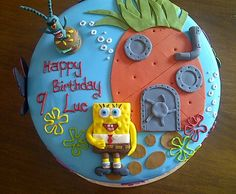 spongebob cake Cupcake Cakes, Cupcakes, Cake Decorating, Decorating Ideas, Cake Stuff, Baby Shower Cakes, Spongebob, How To Make Cake, 2nd Birthday