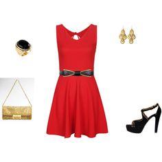 Red, black & gold