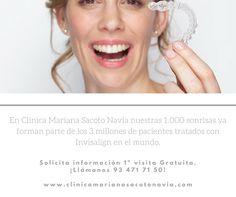 En Clínica Mariana Sacoto Navia nuestras 1.000 sonrisas ya forman parte de los 3 millones de pacientes tratados con #Invisalign en el mundo.  Solicita información 1ª visita Gratuita.¡Llámanos 93 471 71 50!