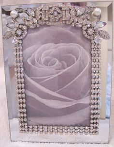 embellish mirror picture frames | Beveled Mirror Photo Frame Designed with by AveryRoseStudio, $98.00