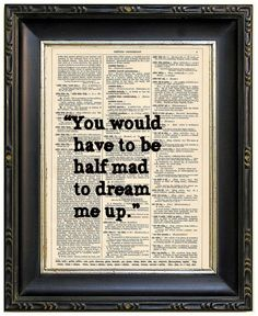 Alice in Wonderland Quote Vintage Book Print by PaperArcadia, $8.99