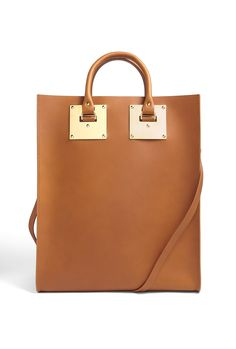 Brown Classic Structured Large Tote by Sophie Hulme