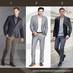 ideas de outfits para la oficina. ¿Cuál prefieres para hoy? ¿1, 2 ó 3?