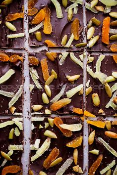 Dark Chocolate Pumpkin Seed and Ginger Bark 3 Dark Chocolate Bark with Ginger, Pumpkin Seeds and Apricots | A Holiday Brunch Party