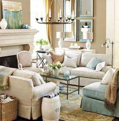 Love this Ballard Designs living room