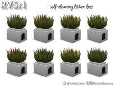 RAVASHEEN's Meow-dern Outdoor Litter Box Sims 4 Pets, Self Cleaning Litter Box, Sims 4 Clutter, Sims 4 Build, Cat Toys, Outdoor, Ts4 Cc, Sims Cc, Outdoors