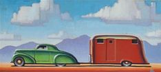 "Daily Paintworks - ""Camping"" - Original Fine Art for Sale - © Robert LaDuke"