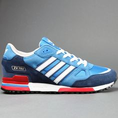 ZX 750 - Bbird R Wht Adidas Originals, Blue Grey, Streetwear, Running Shoes, Trainers, Adidas Sneakers, Hollywood, Eye Stone, Retro