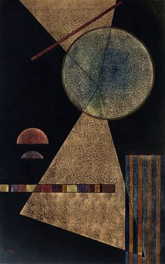 Until you see a Kandinsky in person you can't really appreciate just how textural his work is.  This reproduction goes some way to showing it.  Wassily Kandinsky - Meeting Point, 1928