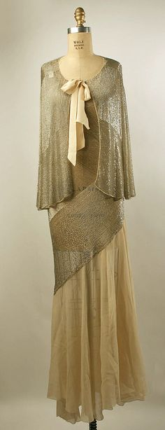 Evening Ensemble 1931, American, Made of silk and cotton