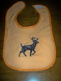 Deer Orange Bib by grinsandgigglesbaby1, $7.50 Baby Boy Camo, Antlers, Deer, Orange, Trending Outfits, Unique Jewelry, Handmade Gifts, Vintage, Etsy
