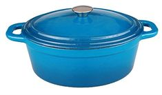 BergHOFF Neo 8Qt Oval Cast Iron Covered Casserole Blue -- For more information, visit image link.(This is an Amazon affiliate link and I receive a commission for the sales)