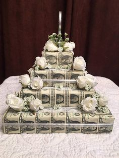 This is a great present for BIRTHDAYS, GRADUATIONS, COMMUNIONS, CONFORMATIONS, WEDDINGS and BABY SHOWERS and BRIDAL SHOWERS!!! Will customize for ANY occasion and for any bill amount! *The one pictured is our 4 tier bridal shower cake with 100 $1 dollar bills.* Length- 12 X 18 Height-