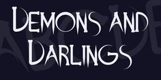 Demons and Darlings Font · 1001 Fonts