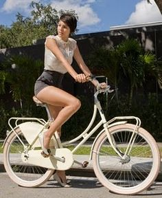 Riding a bike with style....