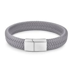 Victory and valor are yours. You've earned yourself the highest honors. Proclaim your masculine ways with a grey leather bracelet built for men who mean business. Made out of genuine leather and finished with a magnetic clasp, this braided bracelet dishes out trustworthiness, durability and a high level of convenience.  FREE Shipping Worldwide.