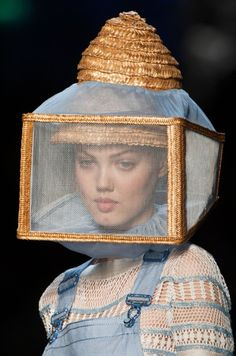 Jean-Paul Gaultier haute couture SS 2015 - for beekeeper veil