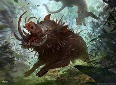 Bristling Boar, Svetlin Velinov on ArtStation at https://www.artstation.com/artwork/ng2Q6