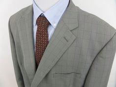 Mazzoni Men's Single Breasted 2 Button Blazer Jacket Sport Coat Gray size 54R #Mazzoni #TwoButton
