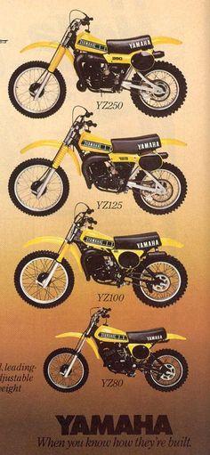 1979 Yamaha YZ Line-Up