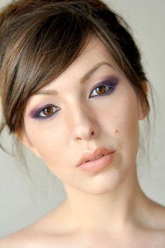 Purple and Golden Wedding Makeup