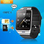 primeiro do bluetooth NFC inteligente relógio gv18 câmera smartwatch GSM SIM Card para ios e android telefone