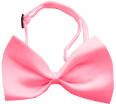Plain hot pink bow tie that is a costume , not a restraint from www.fldfurryfriends.com