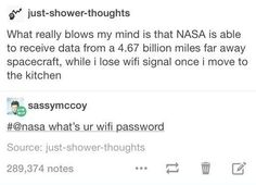 Nasa what's ur wifi password?