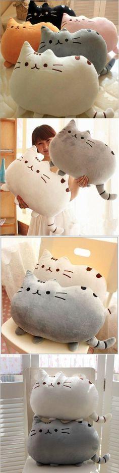 2015 Kawaii Biscuits cats 40*30cm Cute Stuffed Animal Plush Toys Dolls Pusheen Shape Pillow Cushion for kid Home Decoration $8.6