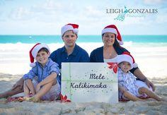 Leigh Gonzales Photography | Family Beach Photographer | Oahu Hawaii | Mele Kalikimaka Photo Session | Christmas Photo Session | PORTFOLIO