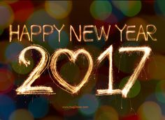 happy new year 2017 love image