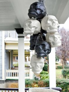 7 Heads Are Better Than One - Spooky Front Porch Decorating Ideas for Halloween on HGTV