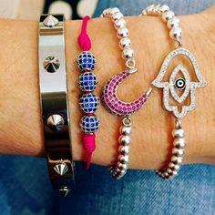Set By Vila Veloni Silver Blink Bracelets