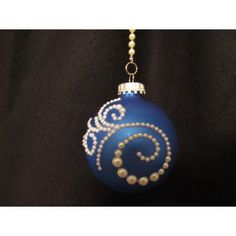 This beautiful handcrafted ornament is created with a blue glass ornament to start.with pearls swirled around for that added touch of elegance. Handcrafted Christmas Ornaments, Handmade Christmas, Fabric Ornaments, Ball Ornaments, Blue Pearl, Glass Ball, Christmas Bulbs, Pendant Necklace, Gemstones