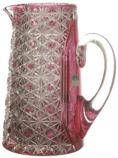 American Brilliant Cut Glass Cranberry To Clear