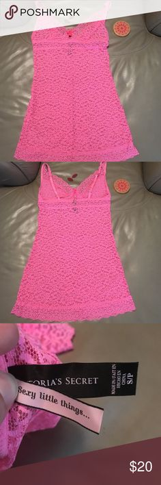 Sexy Little Things - Pink Lace Slip You can't go wrong with this precious, pink lacie number! 🙆🏻💗 Great for sleepwear or a special occasion. Perfect condition, with bow detail. No trades, bundles available upon request. Victoria's Secret Intimates & Sleepwear Chemises & Slips