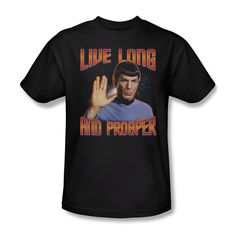 Star Trek Live Long and Prosper Spock Sign Youth Ladies Jr Women Men T-shirt Top #Trevco #GraphicTee
