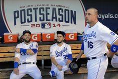 Alex Gordon, Eric Hosmer, Billy Butler - Royals Postseason 2014