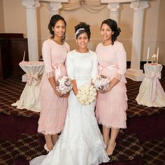 Stunning Modest Wedding party. Bridesmaid dresses all comp… | I love ...