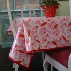 laminated cotton tablecloth #tutorial #diyhomedecoratingideas