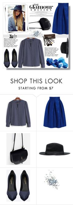 """""""SheIn #7"""" by cherry-bh ❤ liked on Polyvore featuring moda, GALA, OPI, Yves Saint Laurent, Topshop y Borghese"""