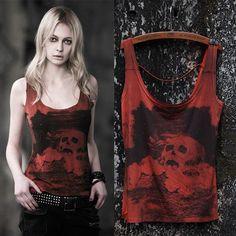 Designer Black Wizard Skeleton Print Hard Punk Rock T Shirts for Men