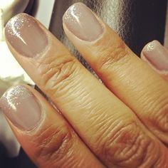 Nude Nails with Just a Touch of Sparkle