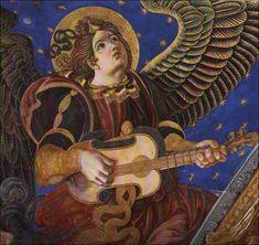 Vihuela  de mano. Ángeles musicos de la Catedral de Valencia