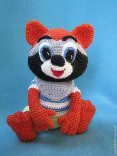 Купить МК по вязанию игрушки Енотик в штанишках - игрушки ручной работы, мультяшки, подарок