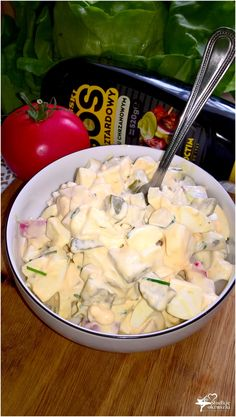 Wyrazista w smaku sałatka z sosem musztardowo-chrzanowym (1) Appetizer Salads, Appetizer Recipes, Salad Recipes, Appetizers, Cooking Recipes, Healthy Recipes, Best Food Ever, Potato Salad, Food To Make