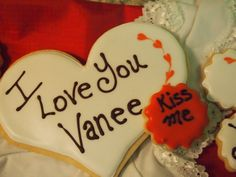 Personalized Valentine's Sugar Cookie by dorianoconnell on Etsy, $18.95