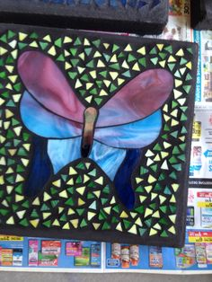 Pink/blue butterfly