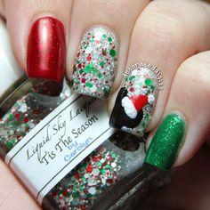 Disney Mickey Mouse Santa Christmas nails by decorateddigits